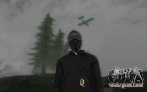 GTA5 Gasmask para GTA San Andreas sucesivamente de pantalla
