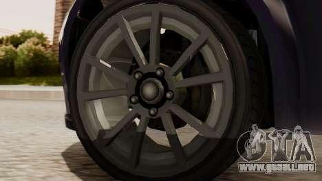 GTA 5 Cheval Fugitive IVF para GTA San Andreas vista posterior izquierda
