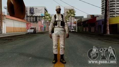 El African American soldier Multicam para GTA San Andreas segunda pantalla