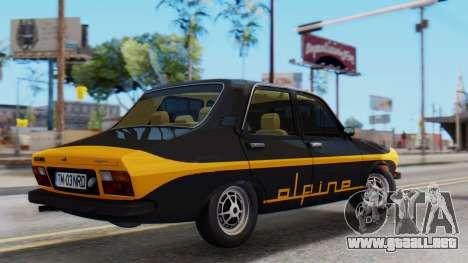 Renault 12 Alpine para GTA San Andreas vista posterior izquierda