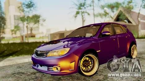 Subaru Impreza WRX STI 2008 para GTA San Andreas