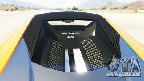 GTA 5 Progen T20 McLaren P1 vista trasera