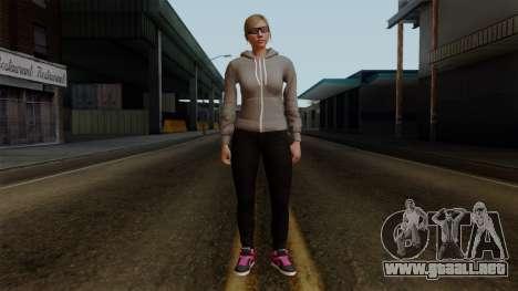 GTA 5 Online Female02 para GTA San Andreas segunda pantalla