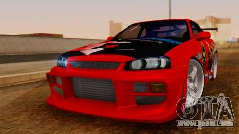 Nissan Skyline R34 Drift Monkey para GTA San Andreas