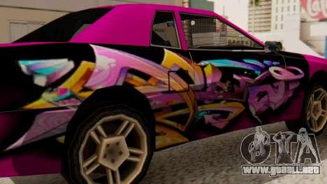 De vinilo para la Elegía - Graffiti para GTA San Andreas vista posterior izquierda