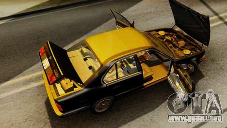 BMW 535i E34 1993 para visión interna GTA San Andreas