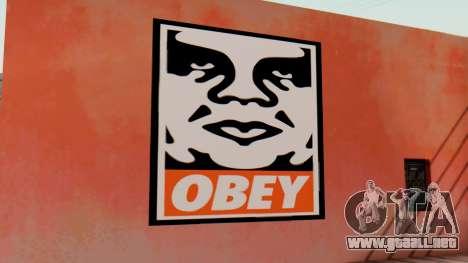 OBEY Graffiti para GTA San Andreas segunda pantalla