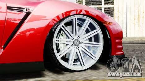 Nissan GT-R AMS 2012 para GTA 4 Vista posterior izquierda
