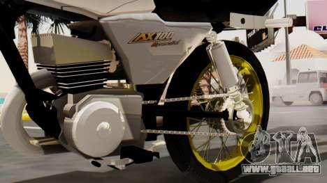 Suzuki AX 100 Stunt para la visión correcta GTA San Andreas