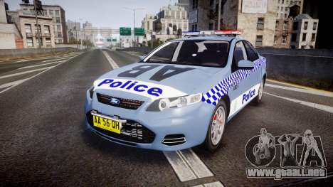 Ford Falcon FG XR6 Turbo NSW Police [ELS] v2.0 para GTA 4
