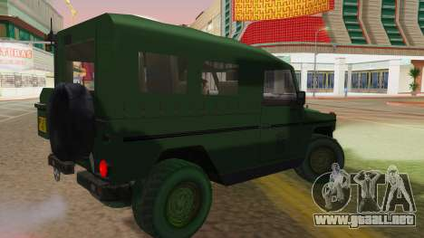 Mercedes-Benz G Wolf Croatian Army para GTA San Andreas left