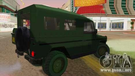 Mercedes-Benz G Wolf Croatian Army para GTA San Andreas left