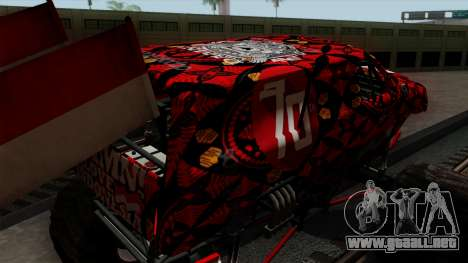 The Seventy Monster v2 para vista lateral GTA San Andreas