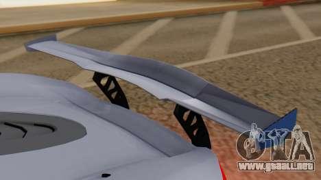 Progen T20 GTR para visión interna GTA San Andreas