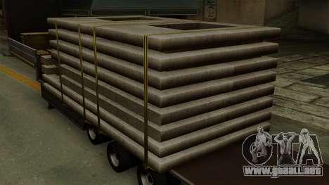 Flatbed3 Grey para GTA San Andreas vista hacia atrás