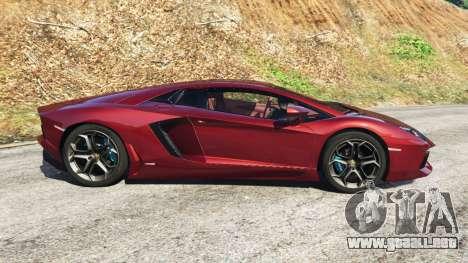 GTA 5 Lamborghini Aventador LP700-4 v0.2 vista lateral izquierda