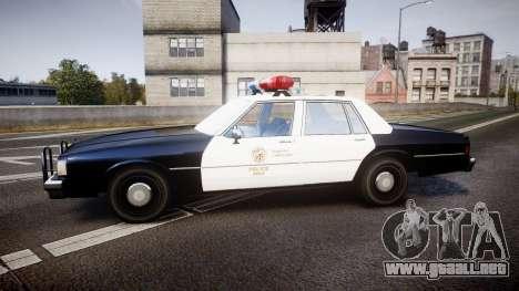 Chevrolet Caprice 1989 LAPD [ELS] para GTA 4 left
