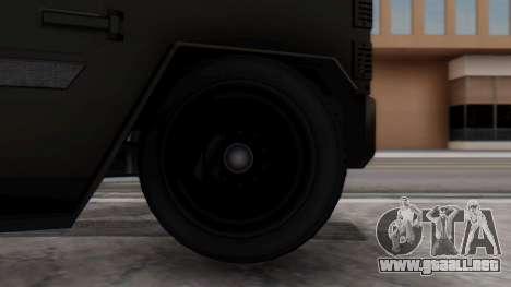 GTA 5 Enforcer Indonesian Police Type 2 para GTA San Andreas vista posterior izquierda