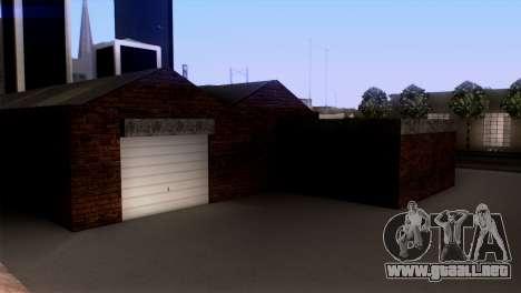 New LSPD garaje para GTA San Andreas sucesivamente de pantalla
