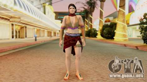 Zafina from Takken 6 v1 para GTA San Andreas segunda pantalla