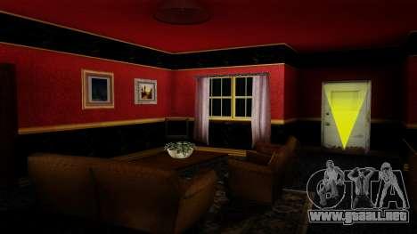 Retextured CJ la casa en el estilo de Scarface para GTA San Andreas tercera pantalla