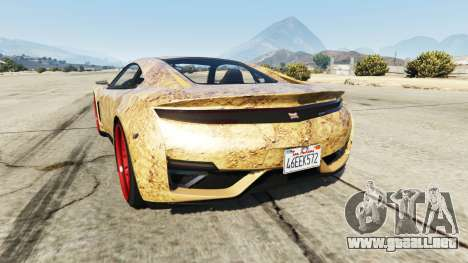 GTA 5 Dinka Jester (Racecar) Dirt vista lateral izquierda trasera