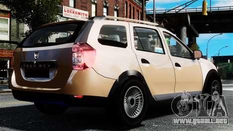 Dacia Logan MCV Stepway 2014 para GTA 4 left