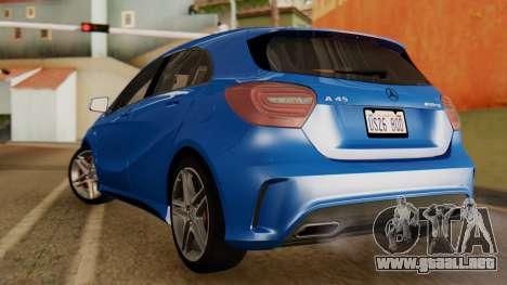 Mercedes-Benz A45 AMG 2012 PJ para GTA San Andreas left
