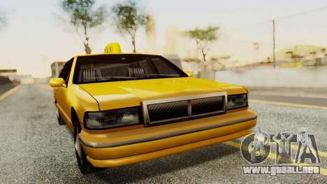Declasse Premier Taxi para GTA San Andreas vista posterior izquierda