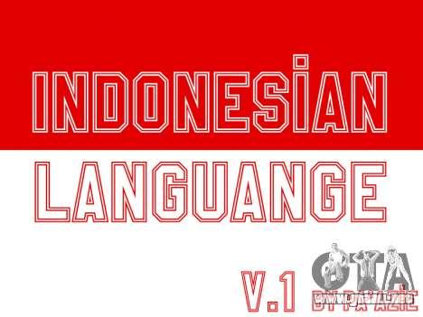 Indonesia Subtítulos (En El Juego Solo) para GTA San Andreas
