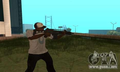 GTA 5 Special Carbine para GTA San Andreas segunda pantalla