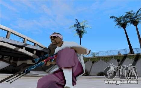 AWP Hyper Beast para GTA San Andreas segunda pantalla