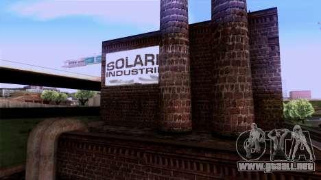 HQ Textures San Fierro Solarin Industries para GTA San Andreas sucesivamente de pantalla