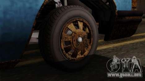 GTA 5 Albany Emperor Worn para GTA San Andreas vista posterior izquierda