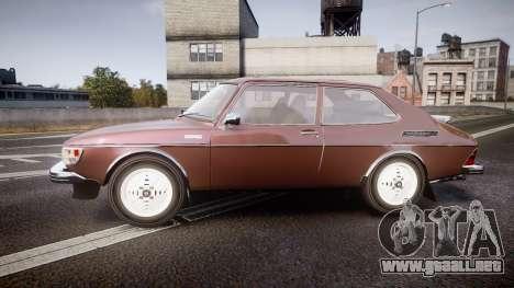 Saab 99 Turbo para GTA 4 left