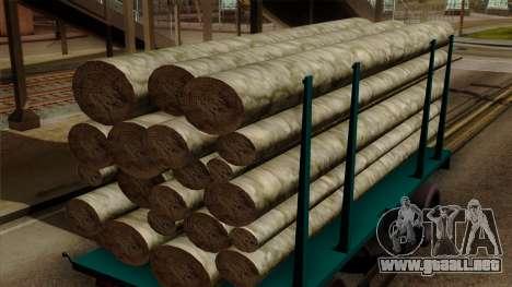 GTA 5 Fieldmaster Wood Trailer para la visión correcta GTA San Andreas