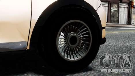 Dacia Logan MCV Stepway 2014 para GTA 4 Vista posterior izquierda