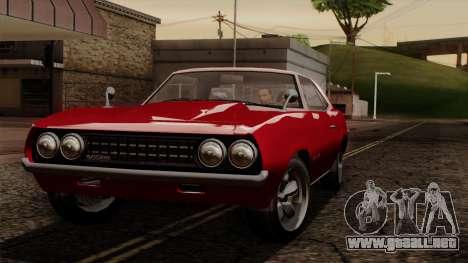 GTA 5 Declasse Vigero IVF para visión interna GTA San Andreas