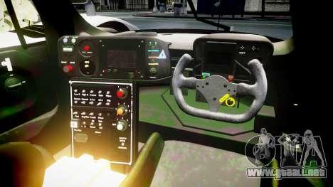 Toyota GT-One TS020 Le Mans 1999 para GTA 4 vista hacia atrás