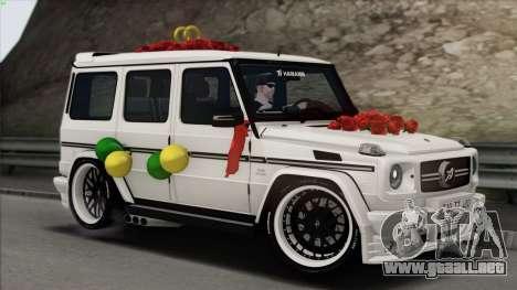 Mercedes Benz G65 Hamann Tuning Wedding Version para GTA San Andreas interior