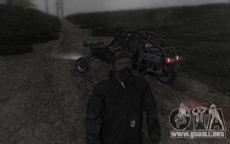 GTA5 Gasmask para GTA San Andreas sexta pantalla