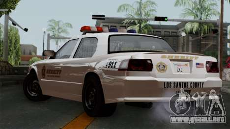 GTA 5 Sheriff Car para GTA San Andreas left