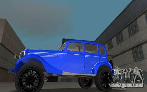 GAZ 11-73 Azul Real para GTA Vice City left