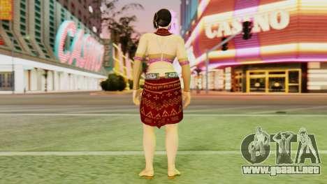 Zafina from Takken 6 v1 para GTA San Andreas tercera pantalla
