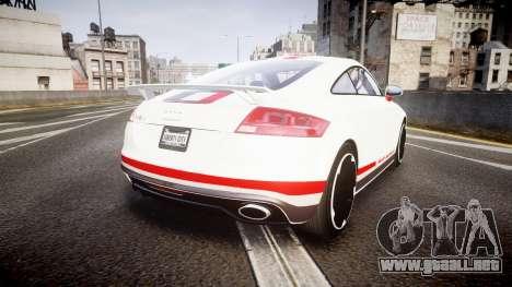 Audi TT RS 2010 Quattro para GTA 4 Vista posterior izquierda