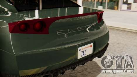 GTA 5 Annis Elegy RH8 SA Style para GTA San Andreas vista hacia atrás