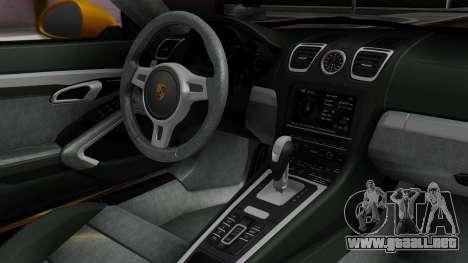 Porsche Boxter GTS 2016 para la visión correcta GTA San Andreas