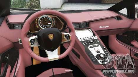 GTA 5 Lamborghini Aventador LP700-4 v0.2 vista lateral derecha