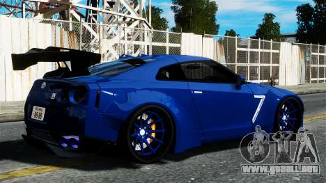 Nissan GT-R R35 Liberty Walk para GTA 4 left