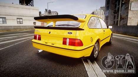 Ford Sierra RS500 Cosworth v2.0 para GTA 4 Vista posterior izquierda